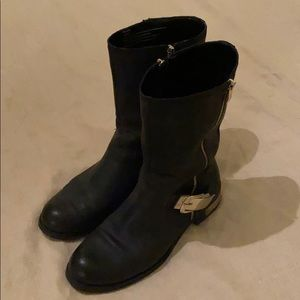 Vince Camuto Gold Detail Motorcycle Boots Sz 10